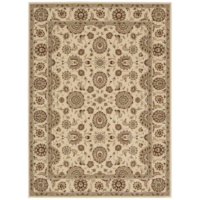 Persian Crown Ivory/Brown Area Rug Rug Size: 710 x 106