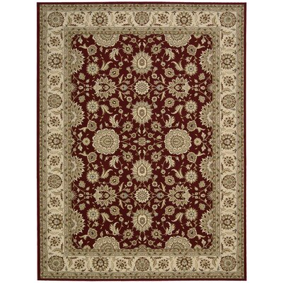 Persian Crown Red/Brown Area Rug Rug Size: 53 x 74