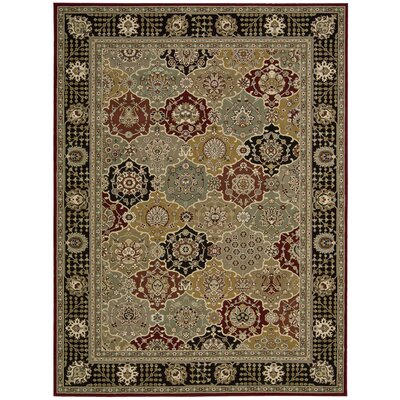 Persian Crown Gray Area Rug Rug Size: 53 x 74