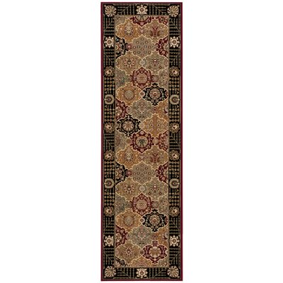 Persian Crown Gray Area Rug Rug Size: Runner 22 x 76