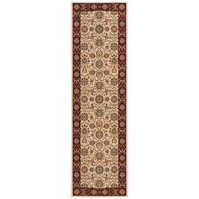 Persian Crown Cream/Brown Area Rug Rug Size: Runner 22 x 76