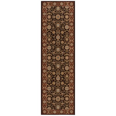 Persian Crown Dark Brown Area Rug Rug Size: Runner 22 x 76
