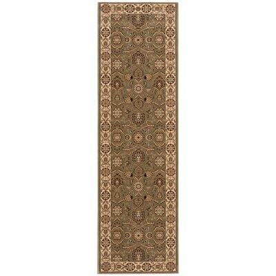 Persian Crown Green/Brown Area Rug Rug Size: Runner 22 x 76