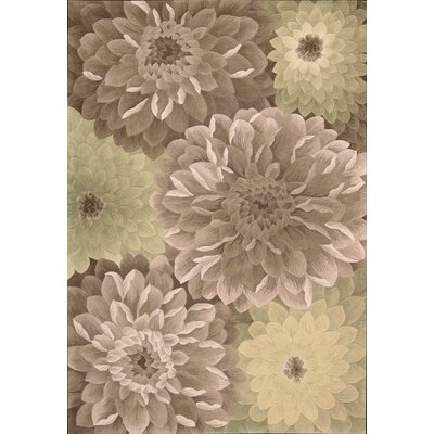 Tropics Taupe/Green Novelty Area Rug Rug Size: 8 x 11