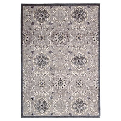 Talanna Gray Oriental Area Rug Rug Size: Rectangle 53 x 75