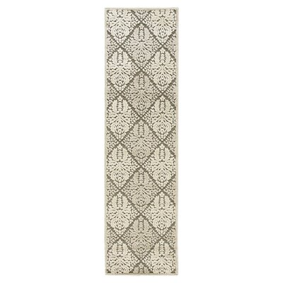 Graphic Illusions White Geometric Area Rug Rug Size: Runner 23 x 8