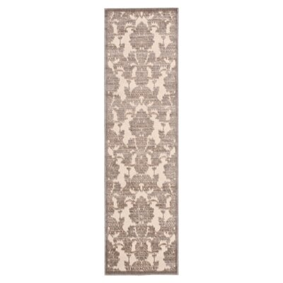 Illusions Ivory/Latte Area Rug Rug Size: Runner 23 x 8