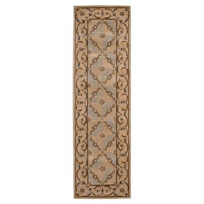 Brownlee Brown/Tan Wool Area Rug Rug Size: Runner 23 x 8