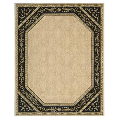 Bryn Oriental Beige/Black Area Rug Rug Size: Rectangle 7'6