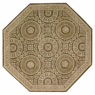 Versailles Palace Hand-Tufted Mocha Area Rug Rug Size: Octagon 6