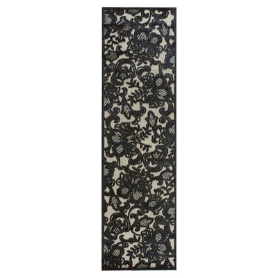 Graphic Illusions Pewter Area Rug Rug Size: Runner 23 x 8