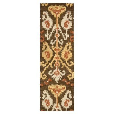 Siam Hand-Tufted Chocolate Area Rug Rug Size: Runner 23 x 76