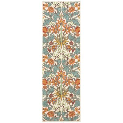 Burnside Ivory Area Rug Rug Size: Runner 26 x 8