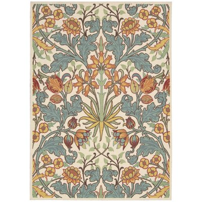 Burnside Ivory Area Rug Rug Size: Rectangle 26 x 4