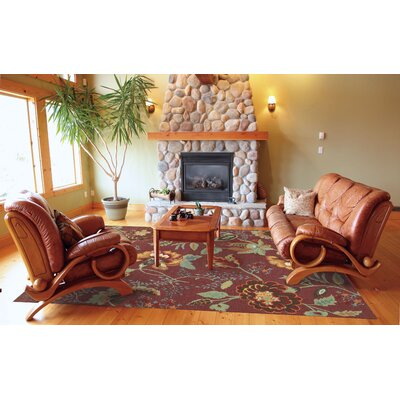 Burnside Brick Area Rug