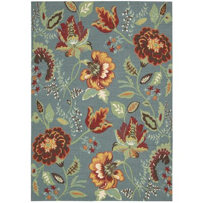 Burnside Blue Area Rug Rug Size: Rectangle 4 x 6