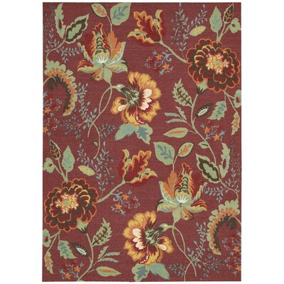 Burnside Brick Area Rug Rug Size: 5 x 7