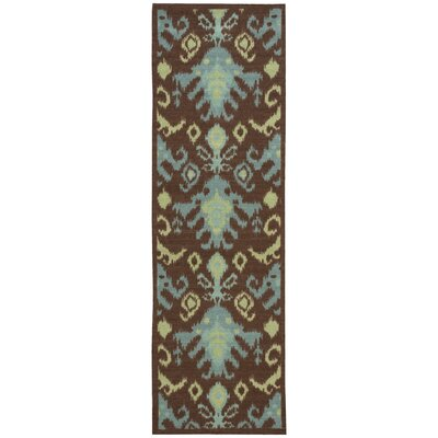 Appian Chocolate Area Rug Rug Size: Runner 26 x 8