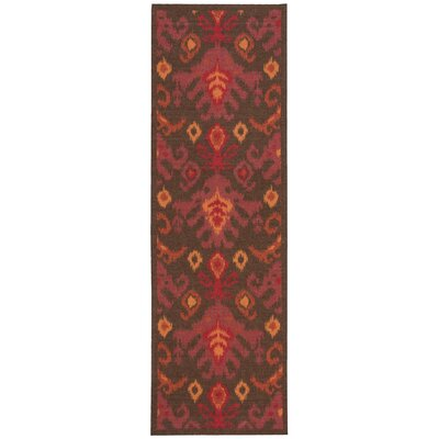 Appian Brown/Red Area Rug Rug Size: Runner 26 x 8