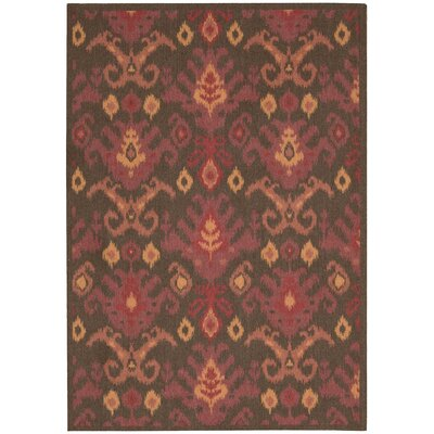 Appian Brown/Red Area Rug Rug Size: Rectangle 5 x 7