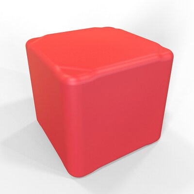 Cube 16.5 H Firm Ottoman Finish: Signal Red