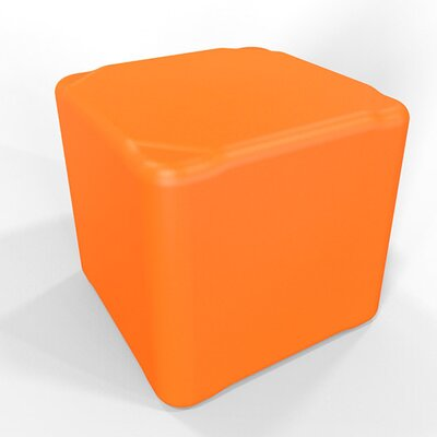 Cube 13.5 H Firm Ottoman Finish: Pure Orange