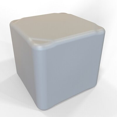Cube 16.5 H Firm Ottoman Finish: Light Gray
