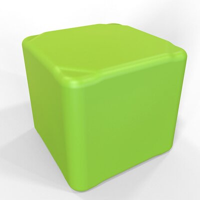 Cube 13.5 H Firm Ottoman Finish: Lime Green