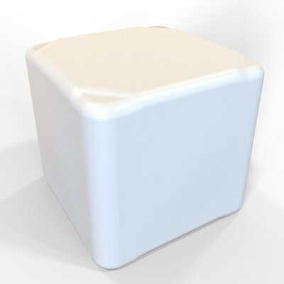 Cube 13.5 H Firm Ottoman Finish: Pure White