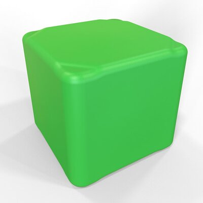 Cube 13.5 H Firm Ottoman Finish: Pure Green