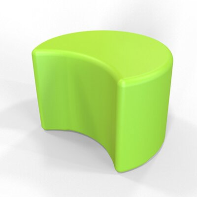 Circ Firm Ottoman Finish: Lime Green