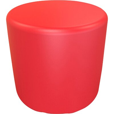 Circle 16.5 H Firm Ottoman Finish: Signal Red