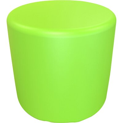 Circle 16.5 H Firm Ottoman Finish: Lime Green