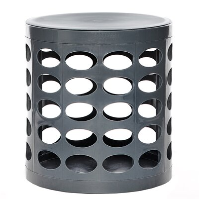 Round Storage Ottoman Finish: Gray
