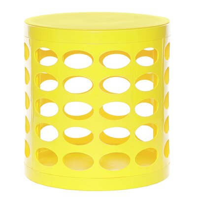Round Storage Ottoman Finish: Yellow