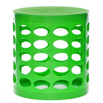 Round Storage Ottoman Finish: Green