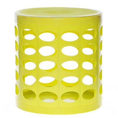 Round Storage Ottoman Finish: Lime Green