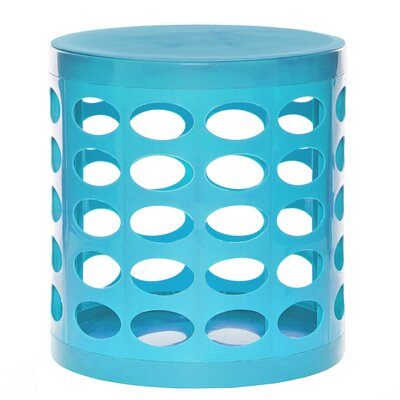 Round Storage Ottoman Finish: Turquoise Blue