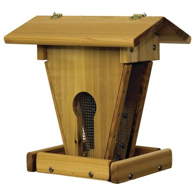 Wood Peanut Sunflower Hopper Bird Feeder 20F