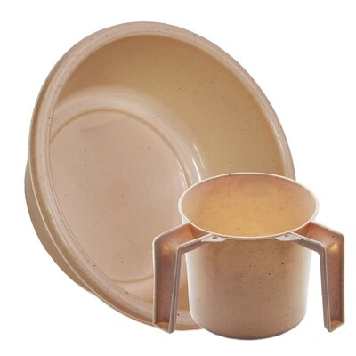 Round Wash Cup and Wash Basin Set Color: Beige Dotted ba157-1148set-beige dotted