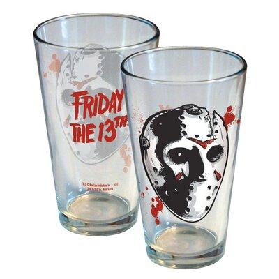 Friday the 13th Jason Mask 16oz. Glass 08404