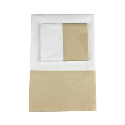 Taylor 350 Thread Count 100% Cotton Flat Sheet Size: Queen, Color: Pumice