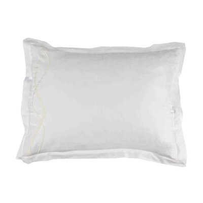 Strands Embroidered Pillow Sham Size: King