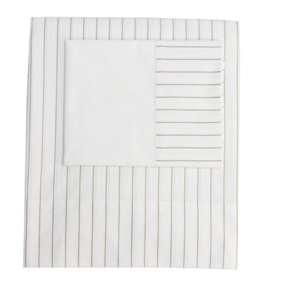 Henry Hill Striped Pillowcase Size: King, Color: Pumice