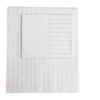 Henry Hill Striped Pillowcase Size: Standard, Color: Limestone