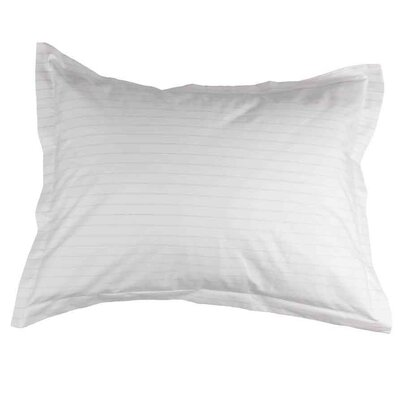 Henry Hill Striped Pillow Sham Size: Standard, Color: Limestone