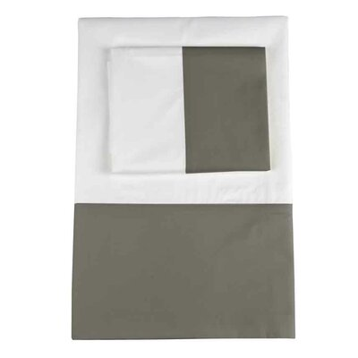 Taylor 350 Thread Count 100% Cotton Flat Sheet Color: Graphite, Size: Queen