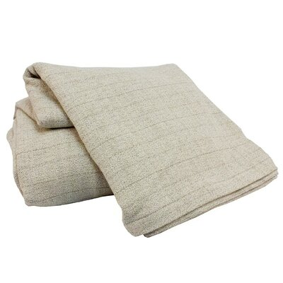 Marc Thee Home Cotton Weave Blanke Size: Throw, Color: Limestone