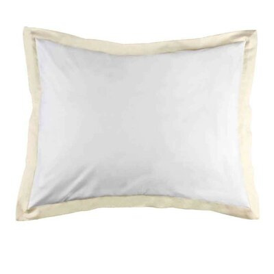 Taylor Twill Weave Banded Pillow Sham Size: King