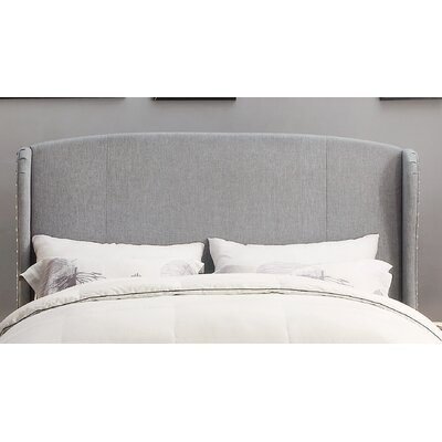 Arzola Upholstered Wingback Headboard Size: King, Upholstery: Gray
